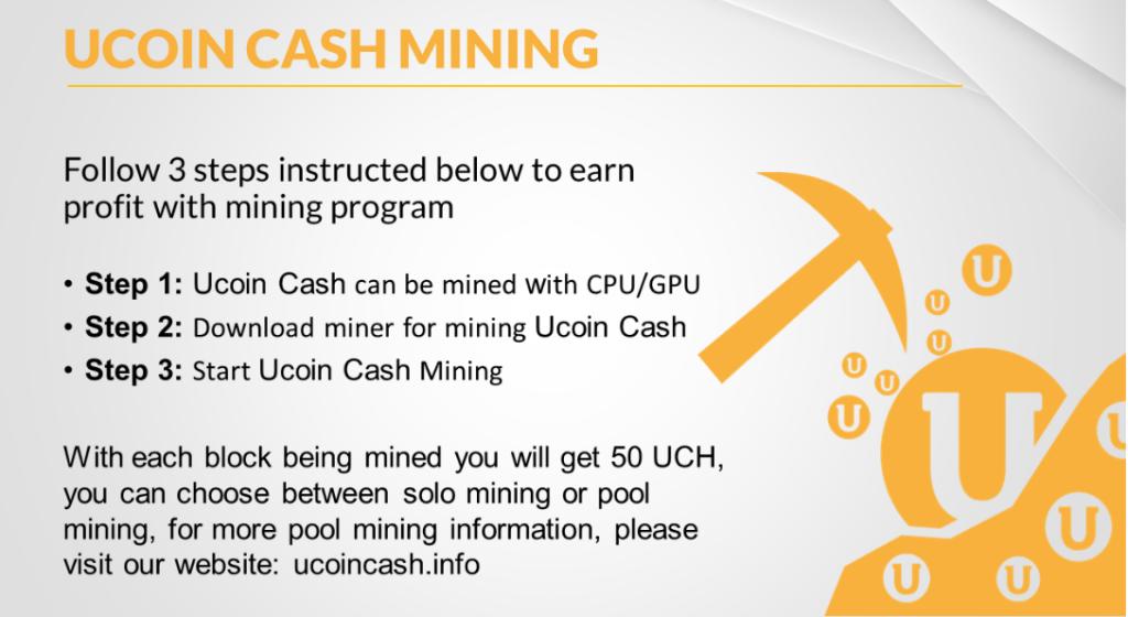 майнинг монет UCH на домашнем компьютере