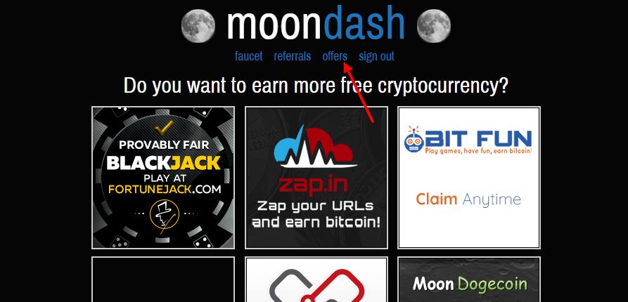 рекламные предложения от moondash