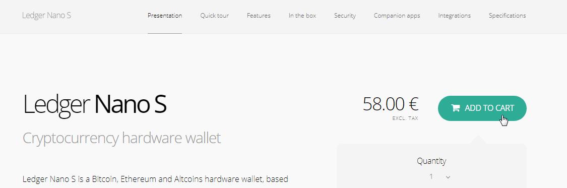покупаем кошелек ledger nano s