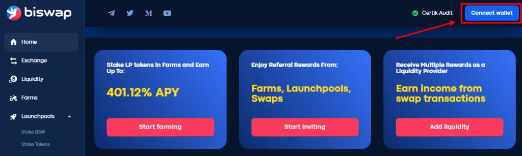 как зарегистрироваться в biswap
