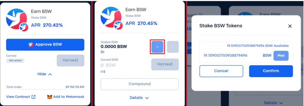 Как запустить стекинг монет в бирже biswap